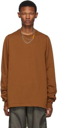 Rick Owens Tan Crewneck Long Sleeve T-Shirt