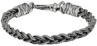 Emanuele Bicocchi Silver Tiny Braided Bracelet