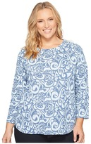 Extra Fresh by Fresh Produce - Plus Size Wander Catalina Top Women's Blouse
