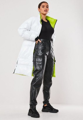 Missguided Reversible Longline Puffer Jacket