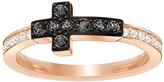 Swarovski Harvey Ring, Black, Rose Gold Plating