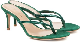 Gianvito Rossi India 70 suede thong sandals