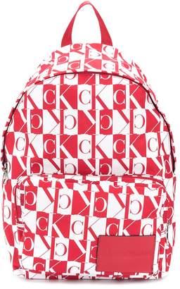 Calvin Klein Jeans monogram logo backpack