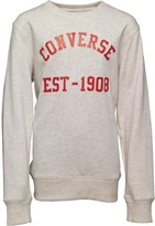 Converse Junior Boys Vintage Type Crew Neck Sweatshirt Oatmeal Heather