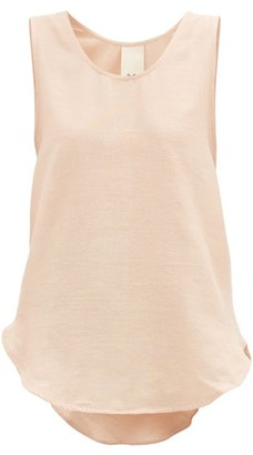 Marrakshi Life - Curved-hem Cotton-blend Tank Top - Light Pink