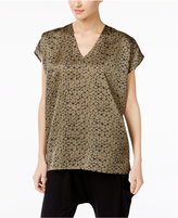Eileen Fisher Silk-Blend Printed Top