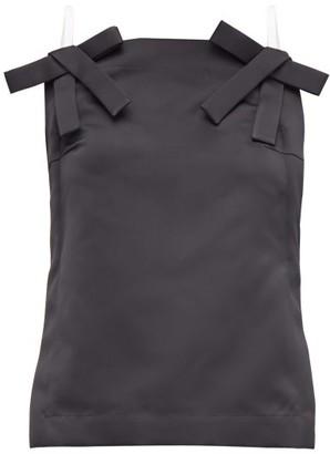 No.21 No. 21 - Bow-strap Duchess-satin Top - Womens - Black