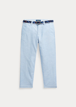 Ralph Lauren Belted Oxford Skinny Pant