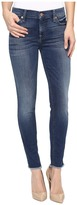 7 For All Mankind The Ankle Skinny w/ Raw Hem in Rich Coastal Blue Women's Jeans