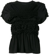Simone Rocha Smocking peplum t-shirt - women - Cotton - XS