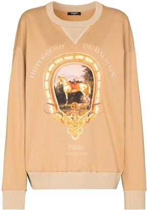 Balmain Hippodrome Heritage cotton sweatshirt