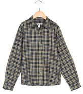 Bonpoint Boys' Plaid Button-Up Shirt