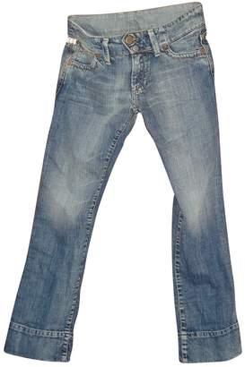 Acquaverde Blue Cotton Jeans for Women
