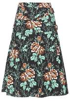 Victoria Beckham Floral-printed cotton wrap skirt