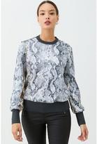 Ted Baker Millay Leopard Printed Sweatshirt - Ivory