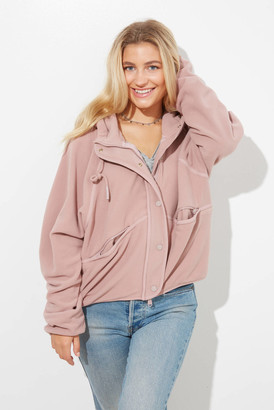 Free People Dream Team Recycled Fleece Taupe XS