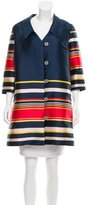 Suno Striped Knee-Length Coat w/ Tags