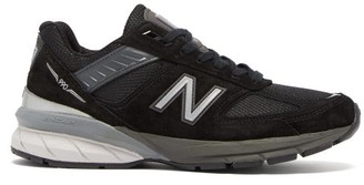 New Balance 990 Suede And Mesh Trainers - Black White