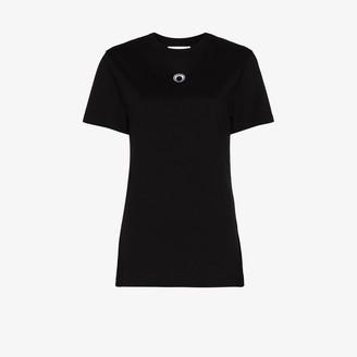 Marine Serre Crescent Moon logo-embroidered T-shirt