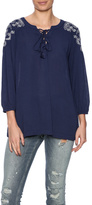 Umgee USA Navy Boho Top