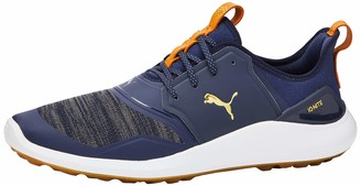 Puma Men's Ignite NXT Golf Shoes Grey (Peacoat Team Gold White 04) 7.5 UK
