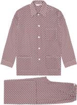 Derek Rose Nelson Orange Pattern Cotton Pyjama Set
