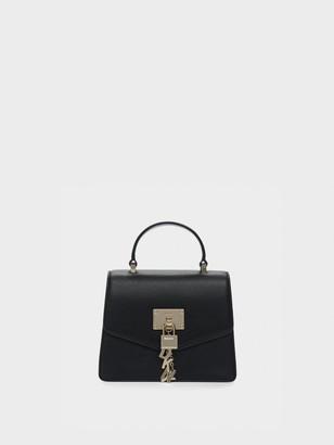 DKNY Elissa Mini Pebbled Leather Satchel