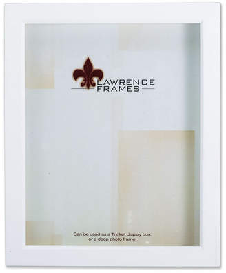 """Lawrence Frames 795257 White Wood Treasure Box Shadow Box Picture Frame - 5"""" x 7"""""""