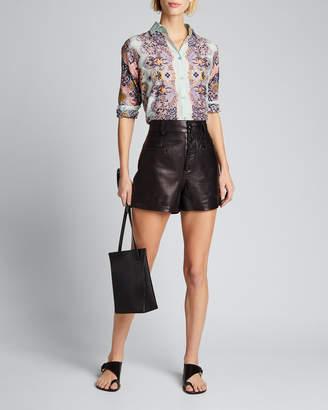 Etro Pastel Paisley Silk-Cotton Shirt