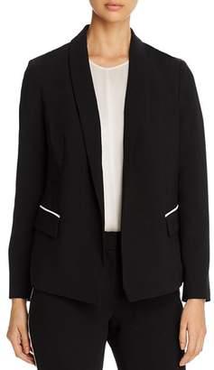 T Tahari Piped Shawl-Collar Blazer