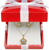Giani Bernini Cubic Zirconia Love Knot Jewelry Set in 18k Gold over Sterling Silver or Sterling Silver, Only at Macy's