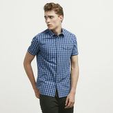 Kenneth Cole New York Short-Sleeve Check Button-Front Shirt