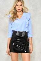 Nasty Gal Plus Side Ruffle Blouse