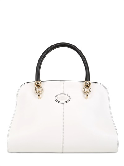 Tod's Leather Mini Bauletto Top Handle Bag