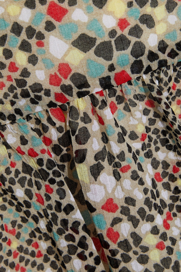 Thumbnail for your product : See by Chloe Printed Cotton And Silk-blend Chiffon Skirt
