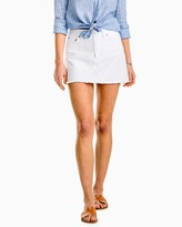 Southern Tide Maisie White Denim Skirt
