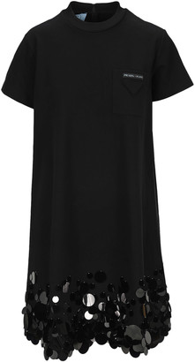 Prada Embellished T-shirt Dress