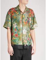 Gucci Floral Snake-print Regular-fit Silk-twill Shirt