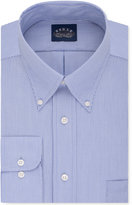 Eagle Men's Classic-Fit Stretch Collar Non-Iron Blue Solid Dress Shirt