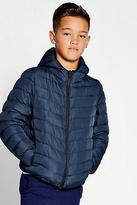 boohoo NEW Mens Boys Padded Hooded Coat in