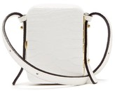 Lutz Morris - Norman Crocodile-effect Leather Cross-body Bag - Womens - White