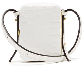 Lutz Morris Norman Crocodile-effect Leather Cross-body Bag - White