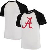 Unbranded Alabama Crimson Tide Wes & Willy Youth Swim Rash Guard T-Shirt - White/Black