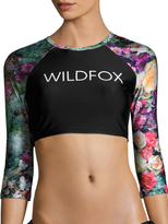 Wildfox Couture Printed Cropped Top