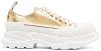 Alexander McQueen Metallic Chunky Sneakers
