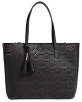 Louise et Cie Elay Perforated Leather Tote - Black