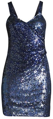 Parker Black Georgia Sequined Mini Dress
