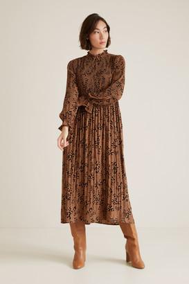 Seed Heritage Pleated Animal Dress