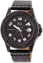 Reign Men's Emery Stainless Steel Black Dial Watch, 40mm