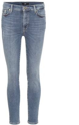 7 For All Mankind High-rise skinny jeans